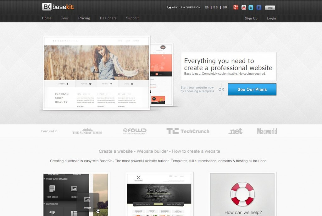 Easily create your own website today - Basekit
