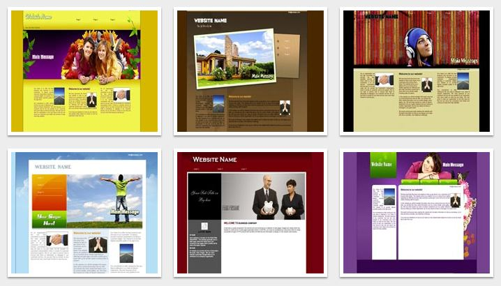 A great selection of website templates - Build Your Site