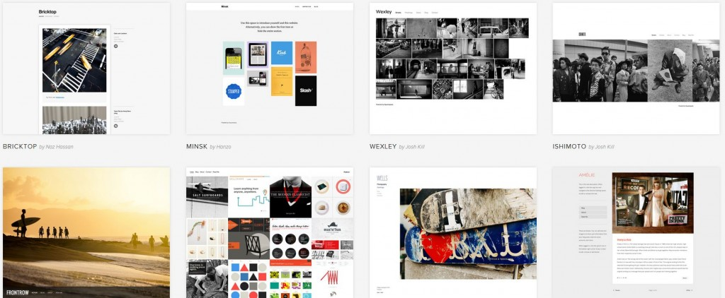A great selection of templates for their website builder - Squarespace