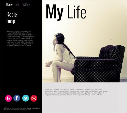Artist website template