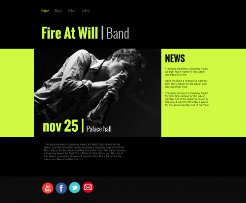Band website template