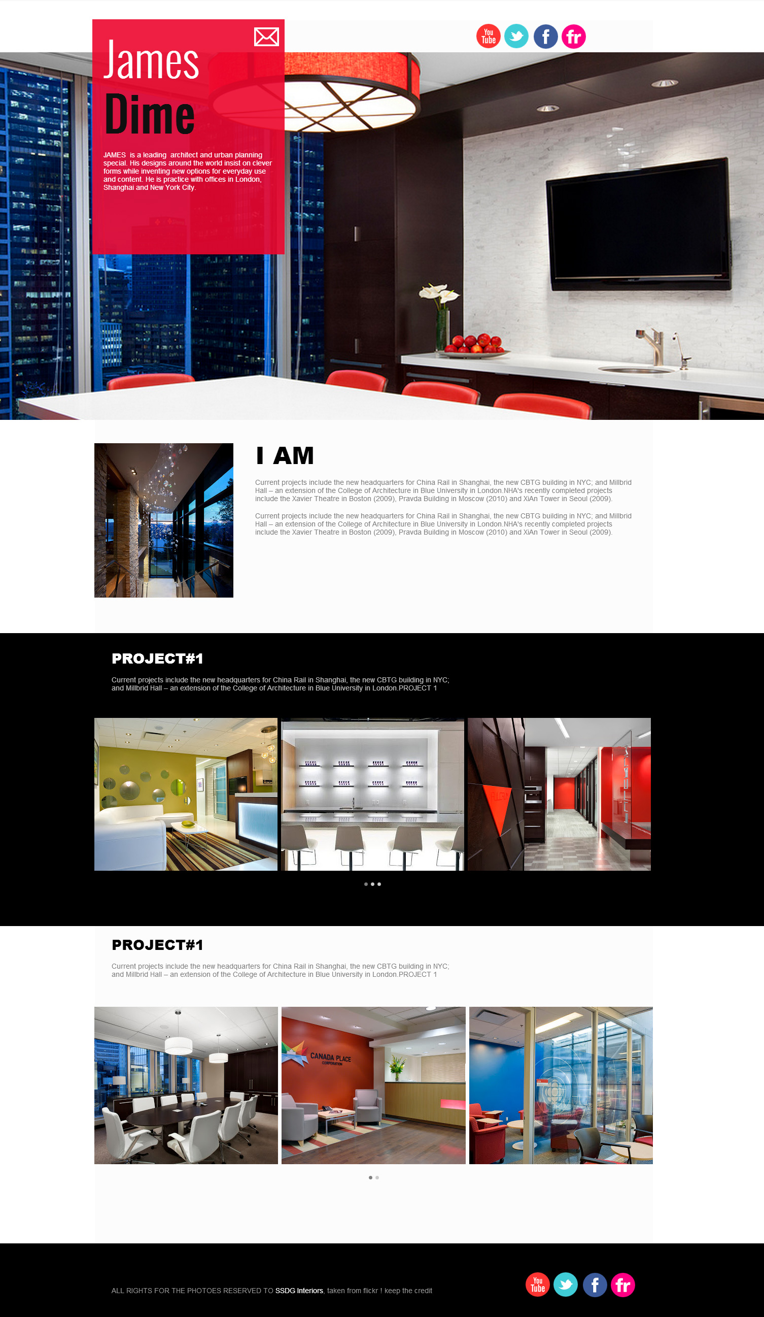 Interior design website #2