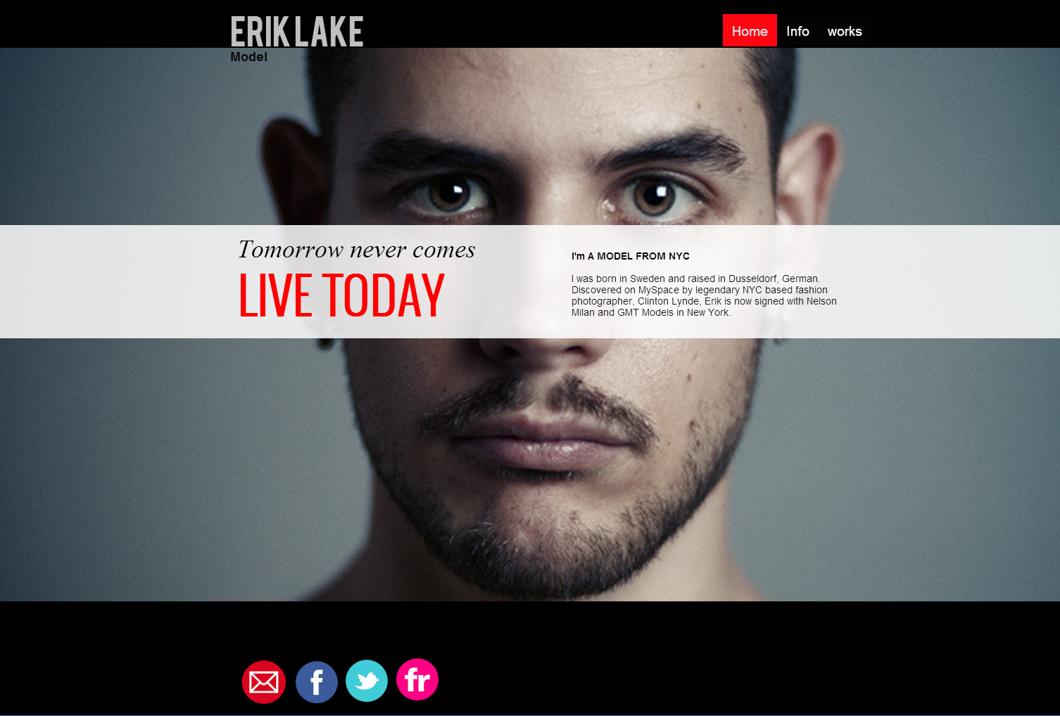Model website template