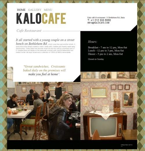 Cafe website template