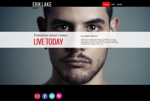 Model website template